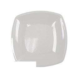 Тарелка одноразовая квадратная белая (30см, ПП, 3шт/уп)