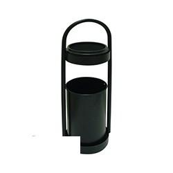 Урна-пепельница для улицы сталь, черная, переносная, 15л.