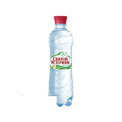 Вода минеральная газированная Святой Источник (0.5л, 12 шт/уп)