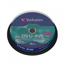 Носители информации Verbatim DVD-RW43552