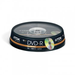 Носители информации TDK DVD-R 4,7 GB 16x CB/10