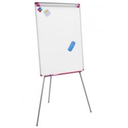 Флипчарт магнитно-маркерный на треноге Bi-Office, 70х102 см, рама серо-розовая  Арт. 270003