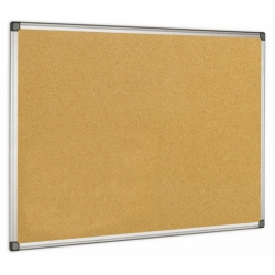 Доска пробковая Bi-Office 90x120 см, алюминиевая рама Арт. 218298