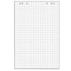 Бумага для флипчартов Attache 67.5х98 см белая 10 листов в клетку (80 г/кв.м)  Арт. 445517