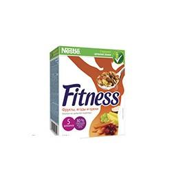 Хлопья Nestle Fitness & Fruits с фруктами, ягодами и орехами 300г