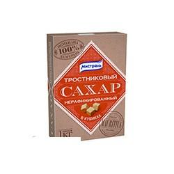 Сахар МИСТРАЛЬ нерафинированный тростниковый в кубиках 1 кг