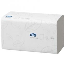 Полотенца бумажные листовые Tork Advanced H3 290163 ZZ-сложения 2-слойные 15 пачек по 250 листов