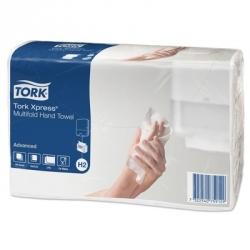Полотенца бумажные листовые Tork Xpress Advanced Н2 471117 Z-сложения 2-слойные 20 пачек по 190 листов