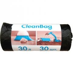 Мешки для мусора на 30 литров с тиснением Концепция Быта черные (10 мкм, в рулоне 30 штук, 48x55 см)