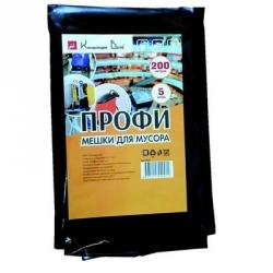 Мешки для мусора на 200 литров Концепция Быта Профи черные (65 мкм, 5 штук в пачке, 90x130 см)