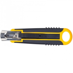 Нож канцелярский безопасный с возвратной пружиной