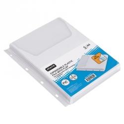 Файл-вкладыш Attache А4 180 мкм гладкий прозрачный расширяющийся с клапаном (5 штук в упаковке)