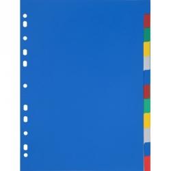 Разделитель листов Attache А4 пластиковый 12 листов цветной (290х210 мм)