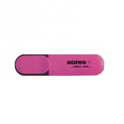 Текстовыделитель Kores розовый (толщина линии1-5 мм)