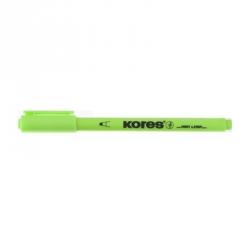 Текстовыделитель Kores зеленый (толщина линии 0.5-3.5 мм)