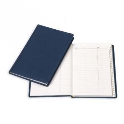 Алфавитная книжка Attache Вива (А5, 202х133 мм, кожзам, синий)