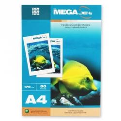 Бумага для струйной печати MEGA Jet (матовая, А4, 170г/м2, 50 листов, двухсторонняя)