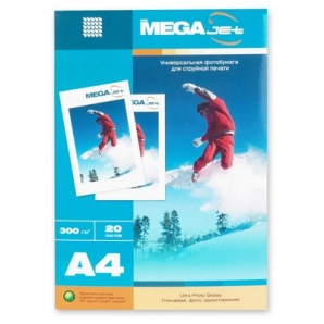 Фотобумага MEGA Jet Ultra Photo (А4, 300г/м2, 20 листов)