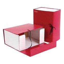 Короб архивный Attache А4 бумвинил красный (складной, 15 см, 2 х/б завязки)