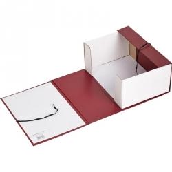 Короб архивный Attache А4 бумвинил красный (складной, 12 см, 2 х/б завязки)