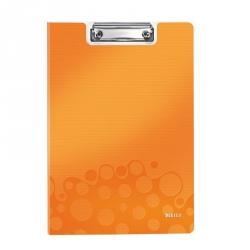 Папка-планшет с крышкой Leitz Wow пластиковая оранжевая (2.8 мм)