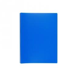 Папка-скоросшиватель с пружинным механизмом Attache пластиковая А4 синяя (0.7 мм, до 150 листов)