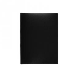 Папка-скоросшиватель с пружинным механизмом Attache пластиковая А4 черная (0.7 мм, до 150 листов)