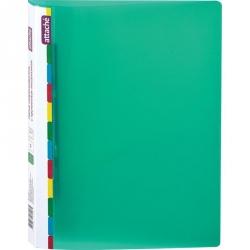 Папка-скоросшиватель с пружинным механизмом Attache Diagonal пластиковая А4 зеленая (0.6 мм, до 150 листов)