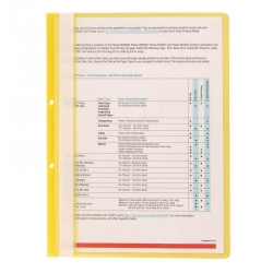 Папка-скоросшиватель с перфорацией на корешке Attache прозрачная пластиковая А4 желтая
