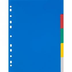 Разделитель листов Attache А4 пластиковый 5 листов цветной (290х210 мм)