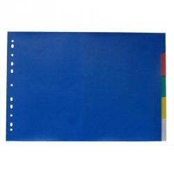 Разделитель листов Attache А3 пластиковый 5 листов цветной (290х420 мм)