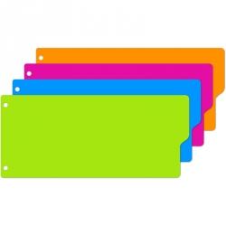 Разделитель листов Attache Selection пластиковый 12 листов цветной (105x240 мм)