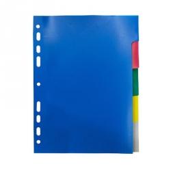 Разделитель листов Attache А5 пластиковый 5 листов цветной (210х148 мм)