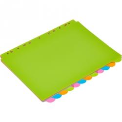 Разделитель листов Attache Selection А4+ пластиковый 12 листов
