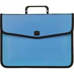 Папка-портфель Attache Fantasy пластиковая А4 голубая (370x280 мм)