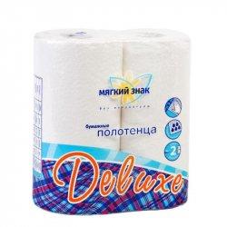 Полотенца бумажные 2-сл.Мягкий знак Deluxe белые 2рул./уп.с40