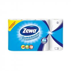 Полотенца бумажные Zewa (белые, с тиснением, 2-слойные, 4шт./уп.)
