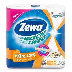 Полотенца бумажные Zewa W&W (белые с рисунком, с тиснением, 2-слойные, 2шт./уп.)