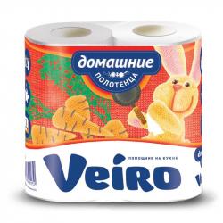 Полотенца бумажные Veiro Домашние с тиснением двухслойные (2 рулона по 12,5 метра)
