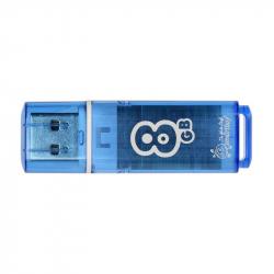 Флеш-память SmartBuy Glossy series 8Gb USB 2.0 голубая