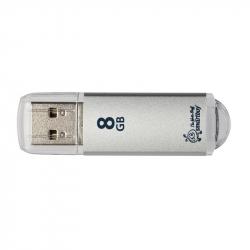 Флеш-память SmartBuy V-Cut 8Gb USB 2.0 серебристая