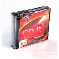 Диск CD-R VS 700 Mb 52x (5 штук в упаковке)
