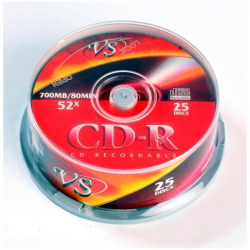Диск CD-R VS 700 Mb 52x (25 штук в упаковке)