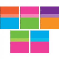 Тетрадь общая Игра цвета А5 96 листов в клетку на гребне в ассортименте