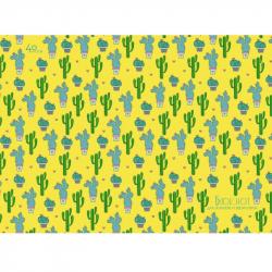 Блокнот для эскизов Зеленый орнамент Кактусы А4 40 листов