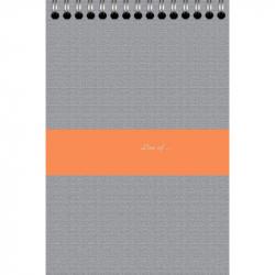 Блокнот Бизнес Линер А4 80 листов в ассортименте в клетку на евроспирали (280х195 мм)