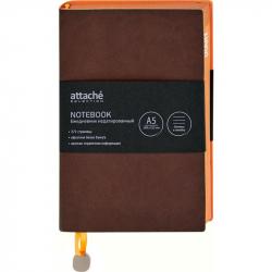 Ежедневник недатированный Attache Genua искусственная кожа А5 136 листов коричневый (148x212 мм)