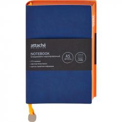 Ежедневник недатированный Attache Genua искусственная кожа А5 136 листов синий (148x212 мм)