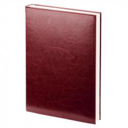 Ежедневник недатированный Attache Agenda искусственная кожа А6 144 листа бордовый (100х140 мм)