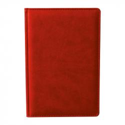 Ежедневник недатированный Attache Сиам искусственная кожа А6 176 листов красный (110x155 мм)